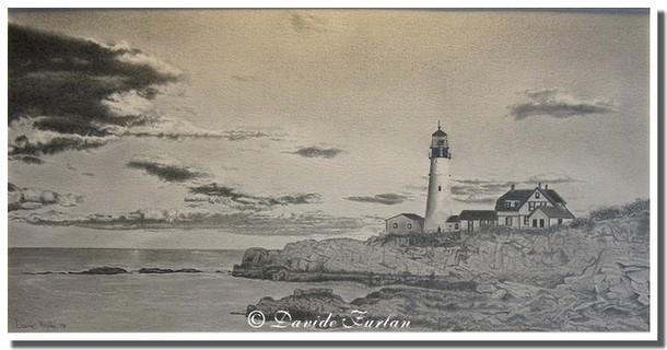 Faro Su Scogliera Portland Maine Di Davide Furlan